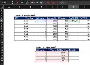 Hướng dẫn sử dụng hàm VLOOKUP trong Excel đơn giản, dễ hiểu
